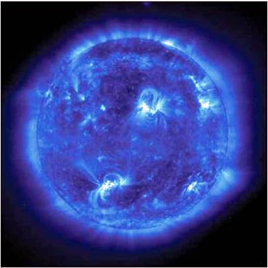 UV Image Sun Flares_NASA