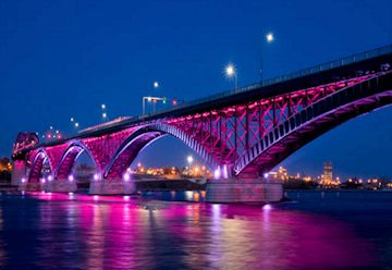 Peace Bridge LED Lights