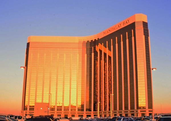 Gold-coated Windows of Mandalay Bay