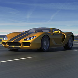 iStock Gold Sports Car Web