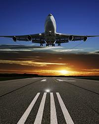 iStock Plane at Sunset Web