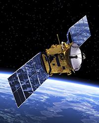 iStock Yellow Satellite w Earth Web