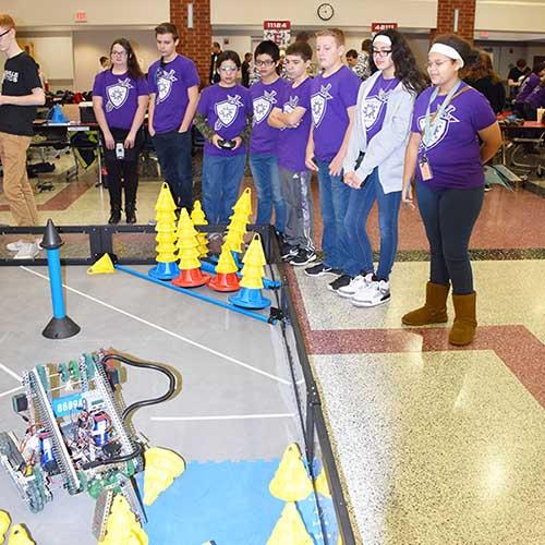 Longfellow Robotics Team Competing