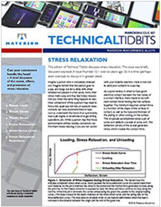 Materion Technical Tidbits Newsletter