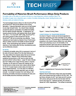 Materion Performanne Alloys Tech Briefs