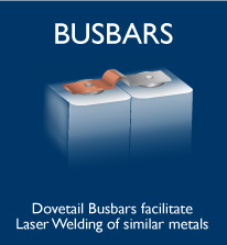 Copper  Aluminum Dovetail Clad Battery Busbars