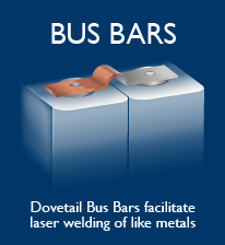 Dovetail Clad Bus Bars facilitate laser welding in lithium-ion battery packs