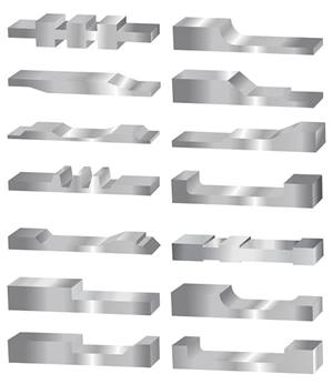 Profiled Stainless Steel examples