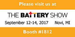 Materion is exhibiting at eh 2017 Battery Show