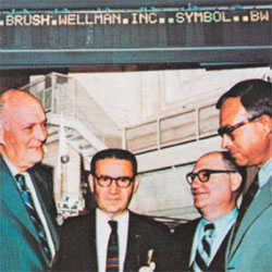 Brush Wellman on the NYSE